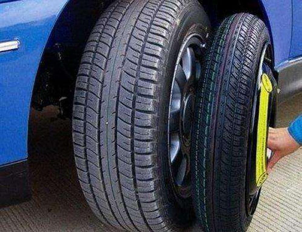 Lốp dự phòng nhỏ hơn lốp chính
