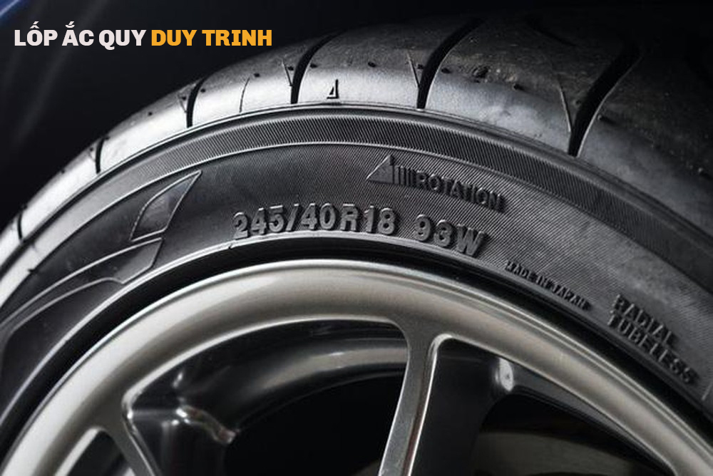 Thông số trên lốp xe ô tô