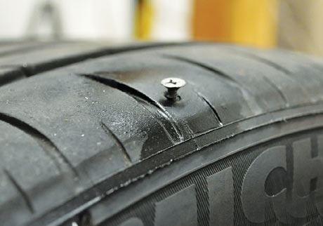 Lốp xe quá mòn thì khả năng dính đinh của lốp sẽ cao hơn