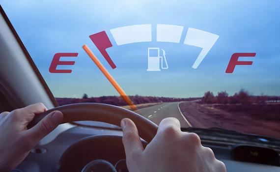 ô tô hết xăng, nhiên liệu