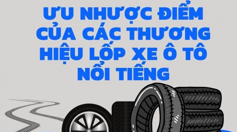 Ưu nhược điểm của các thương hiệu lốp xe ô tô nổi tiếng
